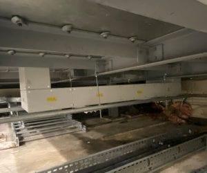 Underfloor busbar