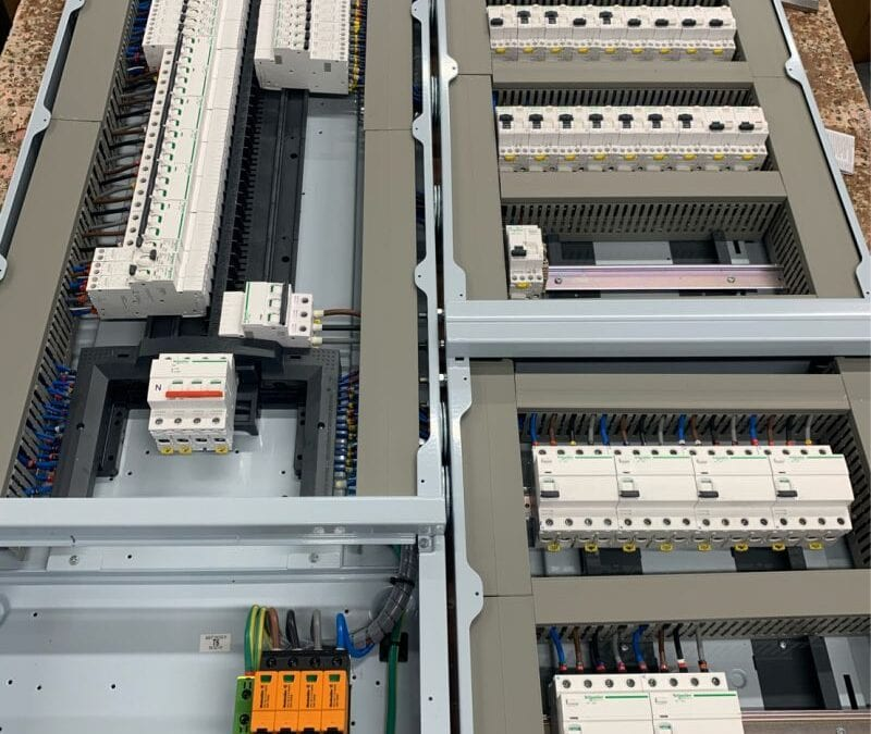 Distribution Board fitted with AFDDs